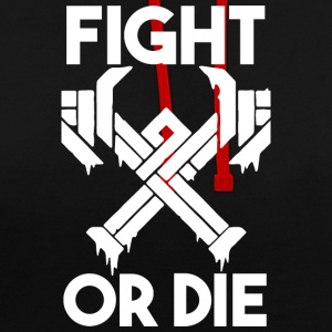 fight or die - Sudadera con capucha en contraste