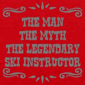 skier the man myth legendary legend premium hoodie - Men's Premium Tank Top
