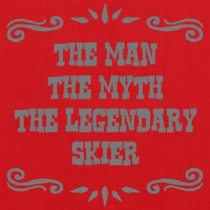 skiing instructor the man myth legendary premium h - Tote Bag