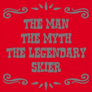 skiing instructor the man myth legendary premium h - Men's T-Shirt