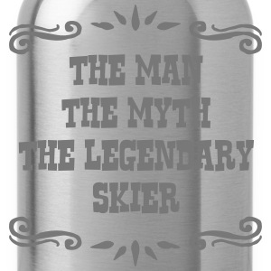 skiing instructor the man myth legendary premium h - Water Bottle