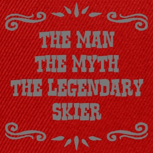 skiing instructor the man myth legendary premium h - Snapback Cap