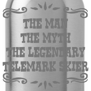 waterskier the man myth legendary legend premium h - Water Bottle