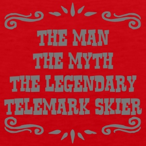 waterskier the man myth legendary legend premium h - Men's Premium Tank Top