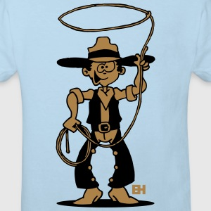Cowboy with a lasso Baby Bodysuits - Kids' Organic T-shirt