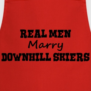freestyle skiers real men marry groom st premium h - Cooking Apron