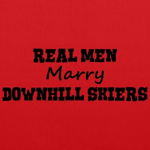 freestyle skiers real men marry groom st premium h - Tote Bag