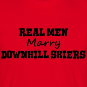 freestyle skiers real men marry groom st premium h - Men's T-Shirt