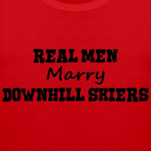 freestyle skiers real men marry groom st premium h - Men's Premium Tank Top