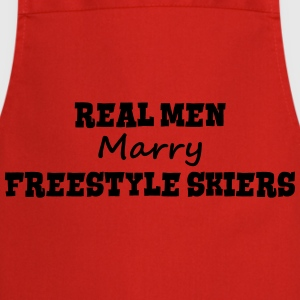 heliskiers real men marry groom stag wed premium h - Cooking Apron
