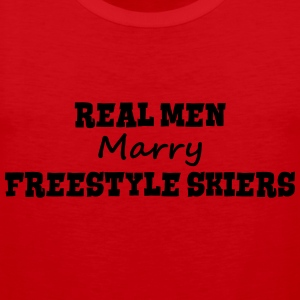 heliskiers real men marry groom stag wed premium h - Men's Premium Tank Top