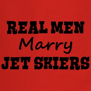jetskiers real men marry groom stag wedd premium h - Cooking Apron