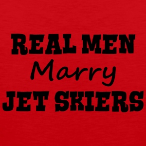 jetskiers real men marry groom stag wedd premium h - Men's Premium Tank Top