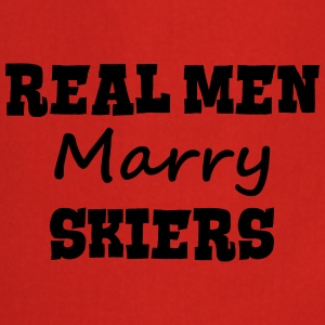 skiing instructors real men marry groom  premium h - Cooking Apron