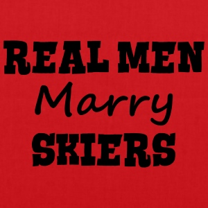 skiing instructors real men marry groom  premium h - Tote Bag