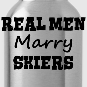 skiing instructors real men marry groom  premium h - Water Bottle