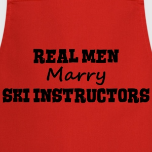 skiers real men marry groom stag wedding premium h - Cooking Apron