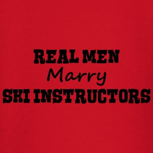 skiers real men marry groom stag wedding premium h - Baby Long Sleeve T-Shirt