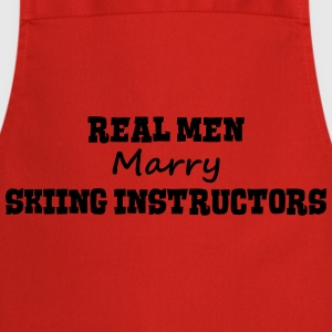 skimmers real men marry groom stag weddi premium h - Cooking Apron