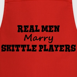 telemark skiers real men marry groom sta premium h - Cooking Apron