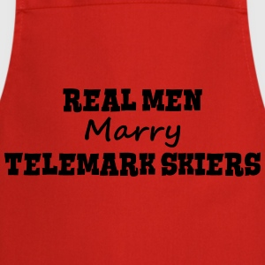 waterskiers real men marry groom stag we premium h - Cooking Apron
