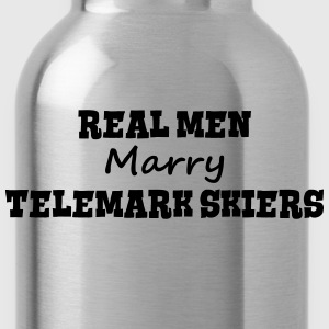 waterskiers real men marry groom stag we premium h - Water Bottle