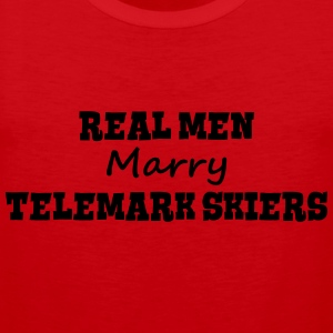 waterskiers real men marry groom stag we premium h - Men's Premium Tank Top
