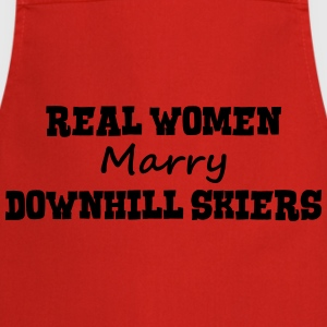 freestyle skiers real women marry bride  premium h - Cooking Apron