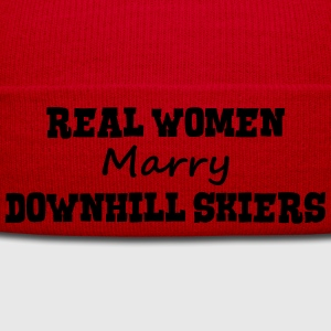 freestyle skiers real women marry bride  premium h - Winter Hat