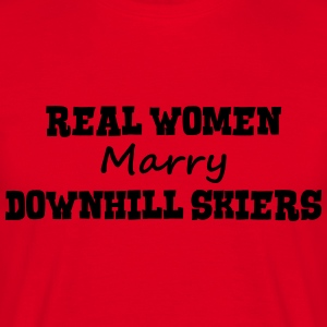 freestyle skiers real women marry bride  premium h - Men's T-Shirt