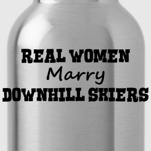 freestyle skiers real women marry bride  premium h - Water Bottle