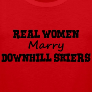 freestyle skiers real women marry bride  premium h - Men's Premium Tank Top
