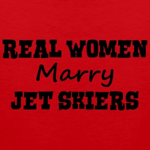 jetskiers real women marry bride hen wed premium h - Men's Premium Tank Top