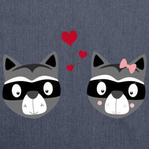 Raccoon couple T-Shirts - Shoulder Bag made from recycled material