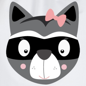 Female raccoon T-Shirts - Drawstring Bag