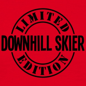 downhill skier limited edition stamp cop premium h - Men's T-Shirt