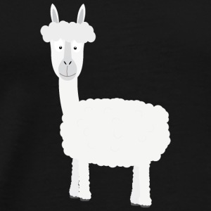 White Alpaca Long Sleeve Shirts - Men's Premium T-Shirt