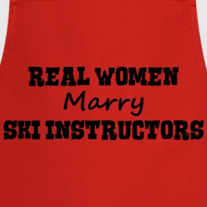 skiers real women marry bride hen weddin premium h - Cooking Apron