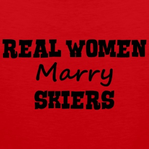 skiing instructors real women marry brid premium h - Men's Premium Tank Top