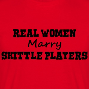 telemark skiers real women marry bride h premium h - Men's T-Shirt