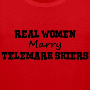 waterskiers real women marry bride hen w premium h - Men's Premium Tank Top