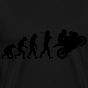 Motorbike Motorcycle Wheelie Evolution Sweatshirt  - Men's Premium T-Shirt