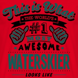 waterskier limited edition stamp cop premium h - Men's T-Shirt