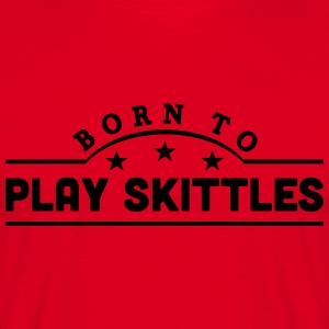 born to freestyle ski banner premium hoodie - Men's T-Shirt