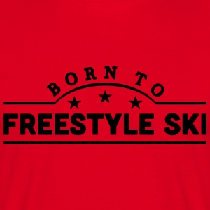 born to heliski banner premium hoodie - Men's T-Shirt