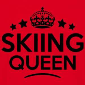 skiing queen keep calm style copy premium hoodie - Men's T-Shirt