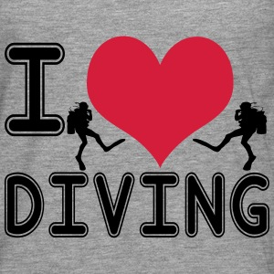 I love diving - Männer Premium Langarmshirt