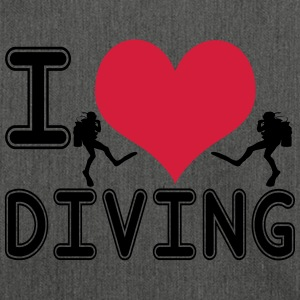 I love diving - Schultertasche aus Recycling-Material
