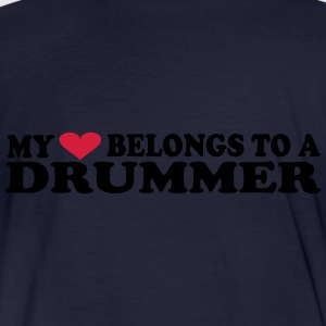 MY HEART BELONGS TO A DRUMMER Sudaderas - Camiseta ecológica hombre