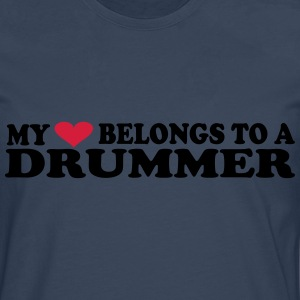 MY HEART BELONGS TO A DRUMMER Camisetas - Camiseta de manga larga premium hombre